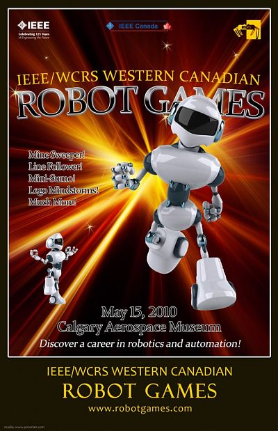 Western Canadian Robot Games 2010 Poster