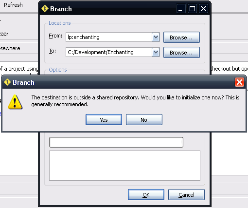 Initialize a shared repository?