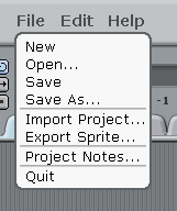 The File Menu